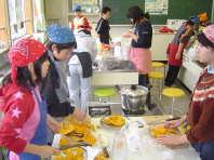 炊飯とカボチャ料理