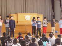 児童集会での発表(3年生)