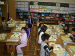 1年生の給食風景