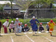 運動会の練習風景